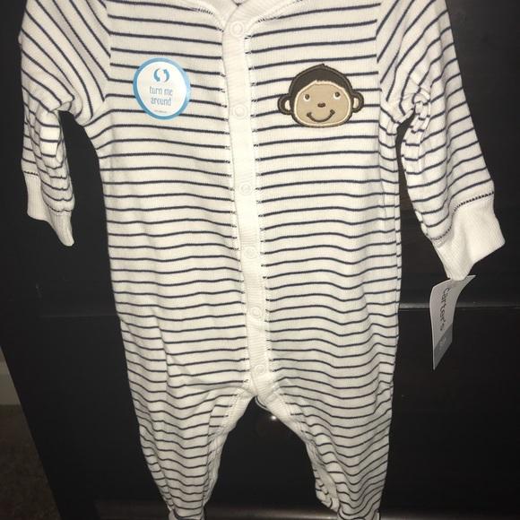 Carters Baby Boy Fleece Polar Bear Pajamas Sleeper Size 3 Months 3M 0-3 mos NWT